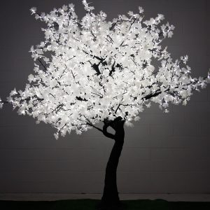2.8m LED Maple Tree -White-Leaf