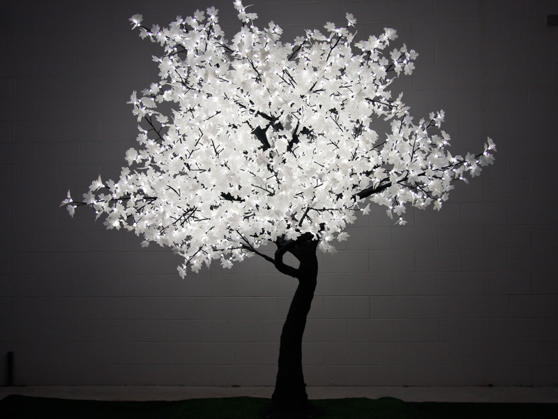 2.8m LED Maple Tree with White Leaves - wedstyle - weddings, events ...