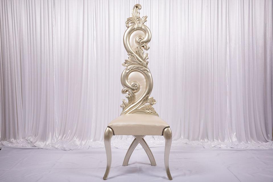 Blush Gold Royal Throne Chair
