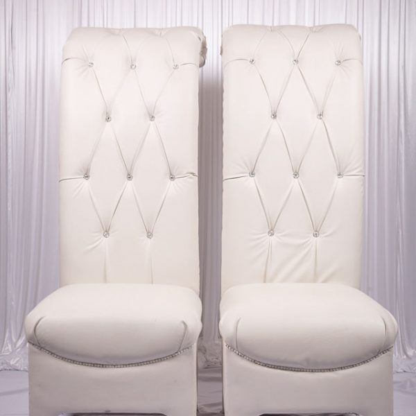 Posh Beck Throne Chair Set For Bride Groom