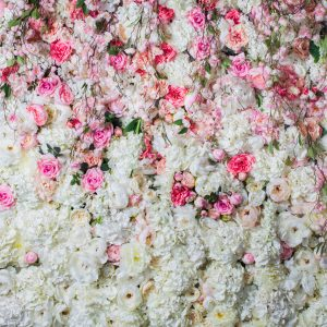 Flower-wall-romance-white-and-pink