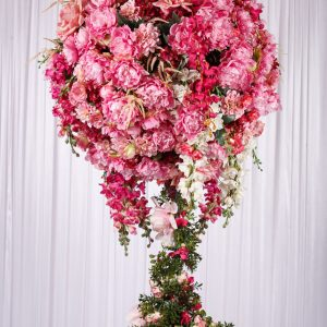 wedstyle-hire-flower-arrangement-1.3m-pink-flower-ball