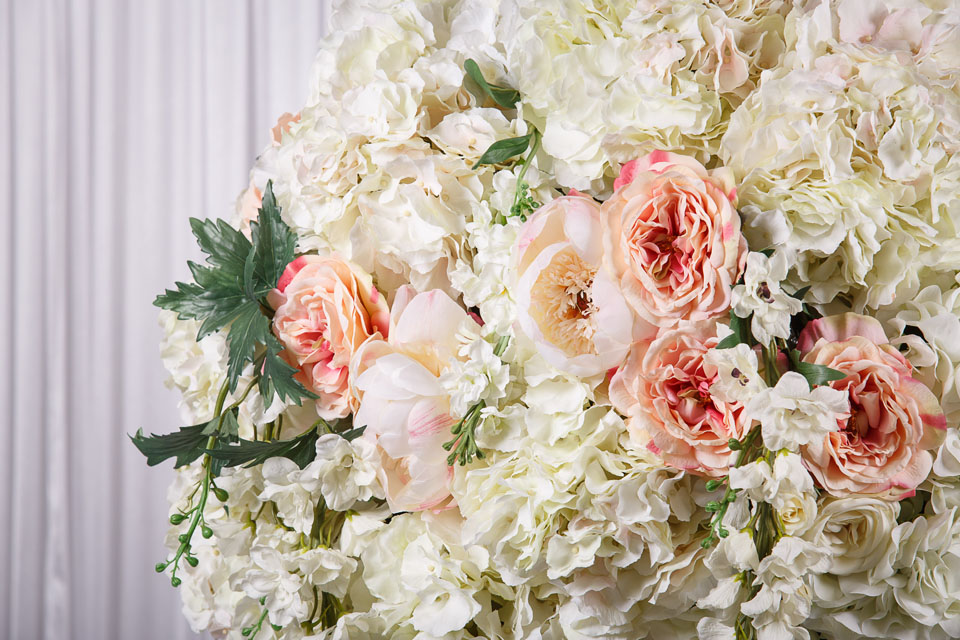 1.3m White Flower Ball Real Touch Flower Arrangement - wedstyle ...