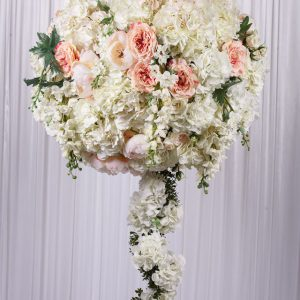 wedstyle-hire-flower-arrangement-1.3m-white-flower-ball