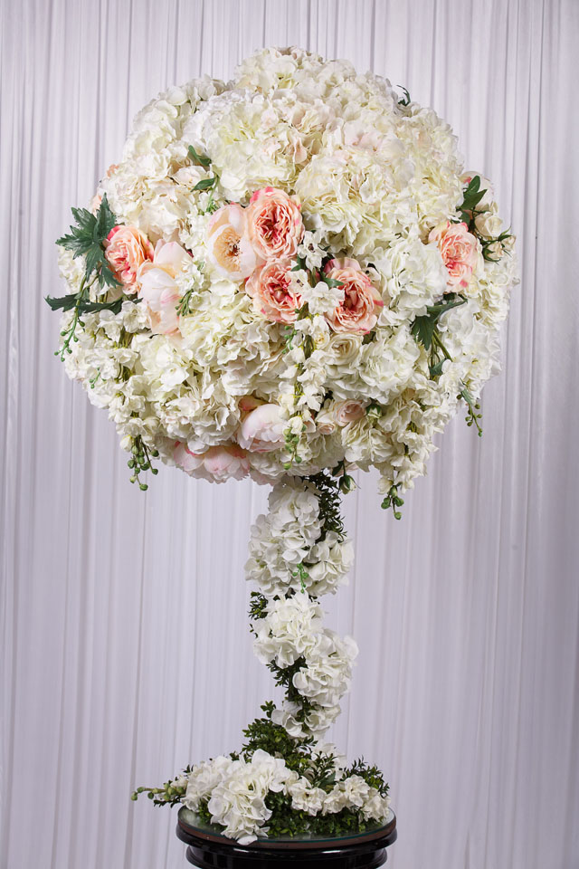 13m White Flower Ball Real Touch Flower Arrangement Wedstyle
