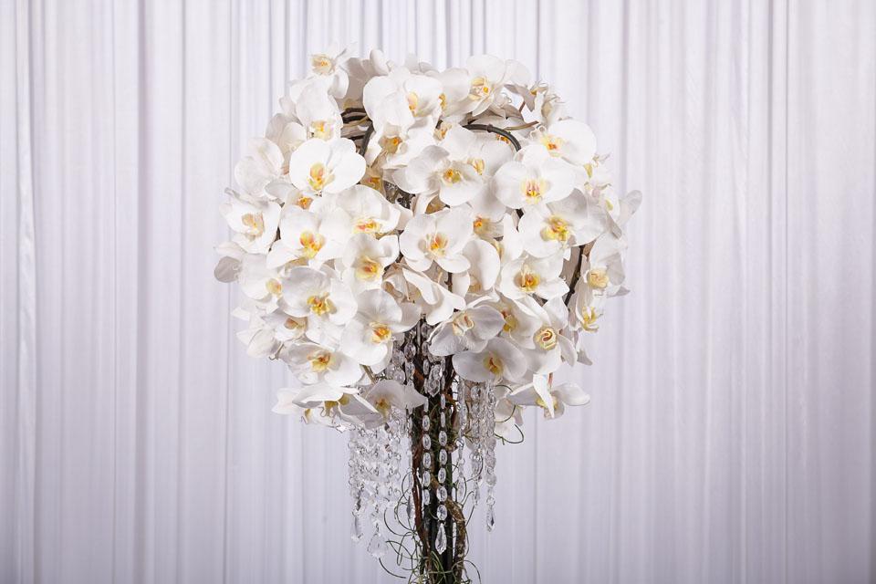White Phalaenopsis Orchid Flower Arrangement - wedstyle - weddings ...