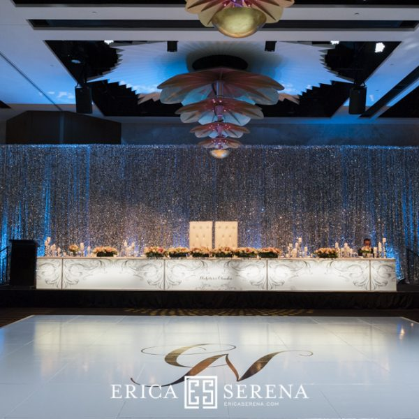 Silver Sequin Backdrop - Crown Astral - wedstyle