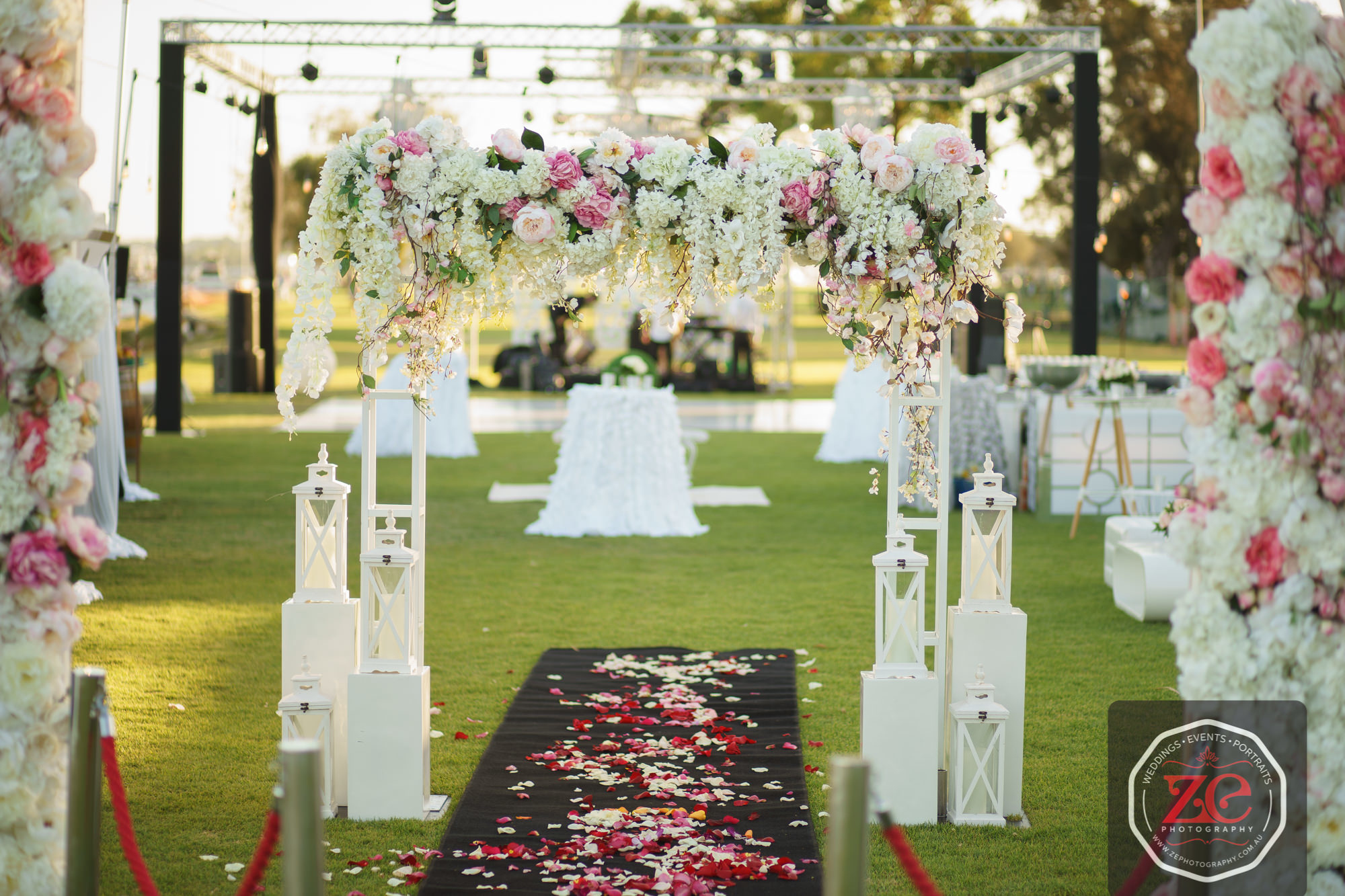 Romance floral truss arch wedstyle weddings events styling online wedding event hire shop junglespirit Gallery