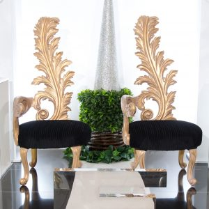 Gold Feather Chair