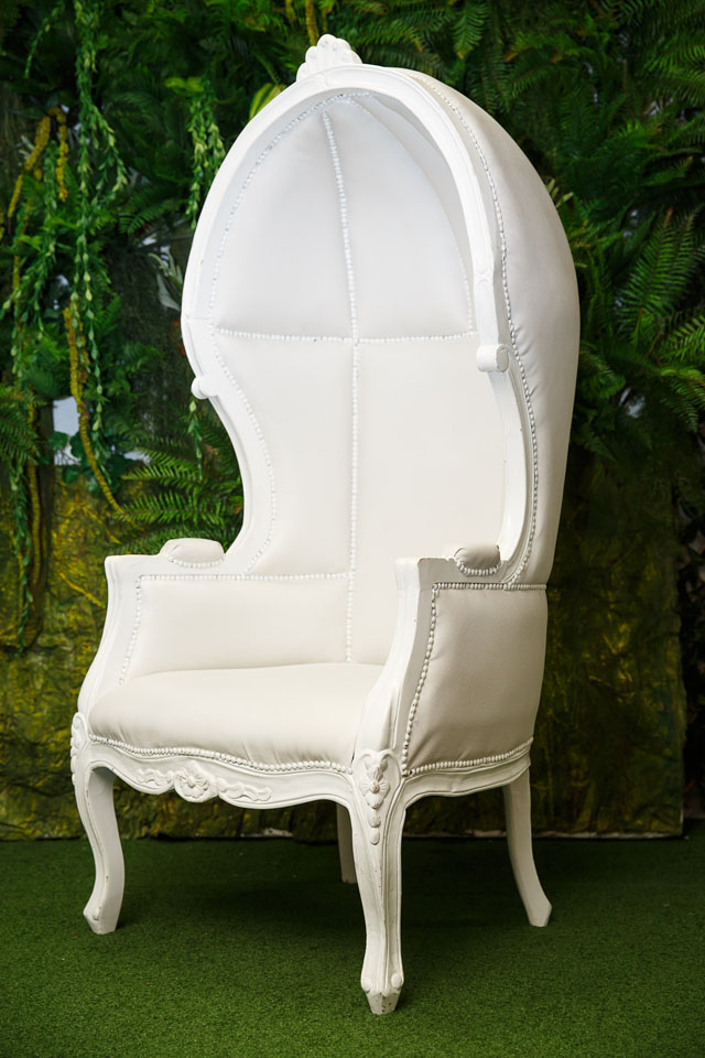 White French Canopy Chair