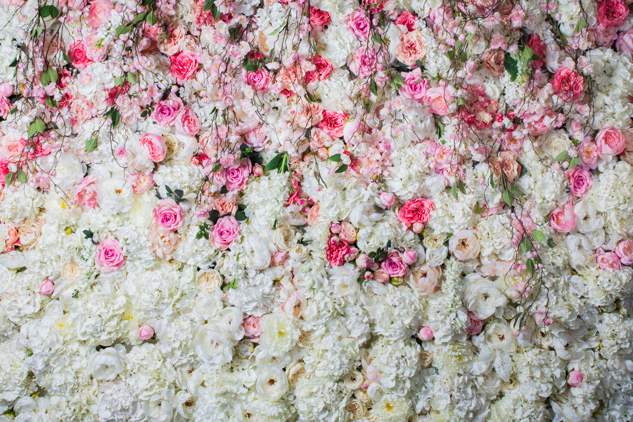 Flower Wall Romance White & Pink wedstyle weddings events styling